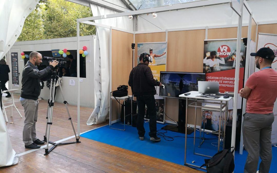 Stand de réalité virtuelle Mêlée Numérique