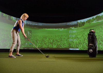 Animation Simulateur Golf Immersif Ecran Geant