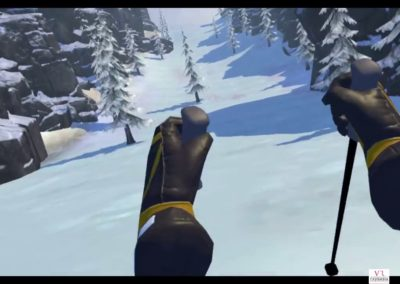 Animation Ski casques Realite Virtuelle