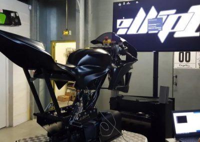 Animation simulation moto vr