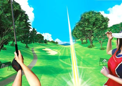 Experience golf realite virtuelle evenementielle