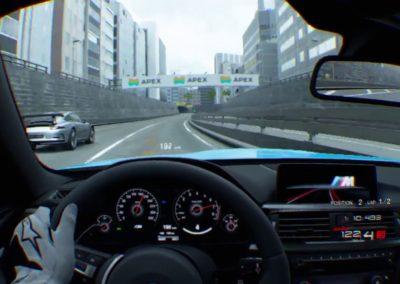 Experience realite virtuelle course automobile